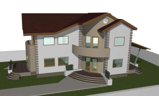 Proiect casa parter si 1 etaj 200mp